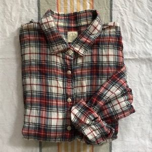 J. Crew Perfect Shirt Plaid Button Down Size M